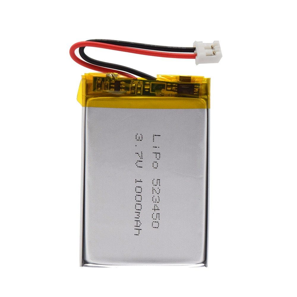 GEB Rechargeable Li-polymer Batteries 523450 Smallest Lithium Polymer Li ion Li-ion 3.7V 3.7Wh 1000mAh Lipo Battery